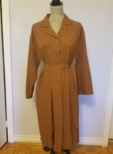 Caramel Navy Shirt Dress/Trench